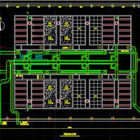 某地水厂普通快滤池工艺平面图剖面图