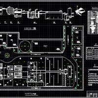 给水厂两套设计方案平面布置图及高程图