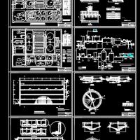 污水处理厂SBR工艺污水处理厂课程设计图(含计算书)