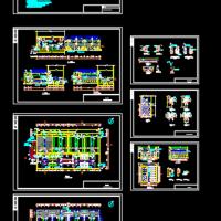 某地净水厂V型滤池工艺设计图
