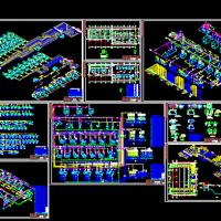 肉食品加工及配送中心氨制冷原理图及系统图