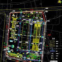 某自来水厂净水工艺流程设计图