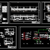 净水厂V型滤池工艺图及总平图