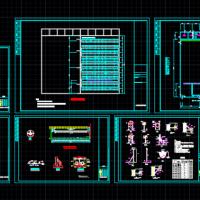 某县污水处理厂工艺设计施工全套图(2万方每天)