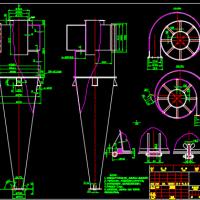 某旋风除尘器单体加工条件细节图纸