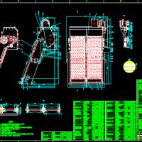 3kw污水处理细格栅装配图