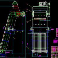 3.8*4.7反捞式格栅除污机CAD装配图