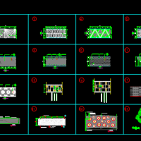20多种景观园路铺装CAD样图