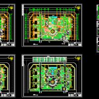 某广场平面设计及绿化景观设计全套图
