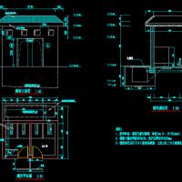 小型汗厕所建筑及结构设计图纸