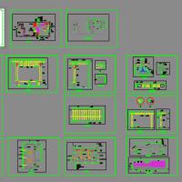 专业别墅庭院绿化设计施工图