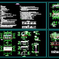 四套旱厕建筑设计CAD图纸