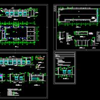 某地一层框架结构食堂建筑施工图