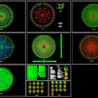 300平米圆形网架结构设计图(含计算书)