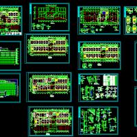 五层框架结构医院门诊及住院楼建筑设计图