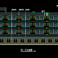 1666平米四层单面布房宿舍楼建筑施工图