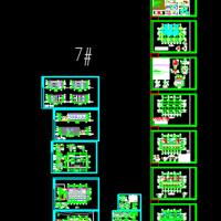 706平米两层框架结构宿舍楼建筑及结构图