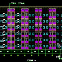 5863平米六层框架结构宿舍楼建筑设计图纸