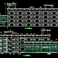 四层框架结构宿舍招待所建筑设计施工图纸