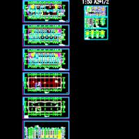 哈尔滨6115 平米四层框架结构宿舍楼建筑设计图