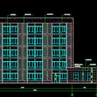 福建3237平米框架现代风格多功能职工宿舍建筑施工图