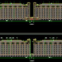 浙江某大学6层框架结构简欧风格学生公寓建筑施工图