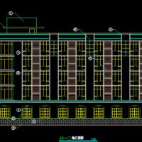 2800平米5层框架结构宿舍楼建筑图