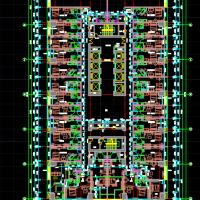 43层酒店式公寓楼建筑平面图(只含平面)