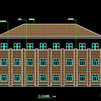 1239平米三层框架结构宿舍楼建筑及结构图