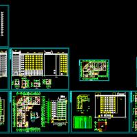 7758平米L型九层框架结构公寓楼建筑及结构图