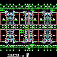 7层砖混结构公寓楼建筑及结构图(带厨房含造价模型编制说明)