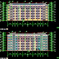 安徽六层剪力墙结构教师公寓楼建结水电全套图