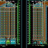 某企业员工高层公寓楼建筑及结构设计图