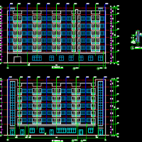 3691平米框架结构办公楼及宿舍楼建筑结构图(宿舍6层3700平)