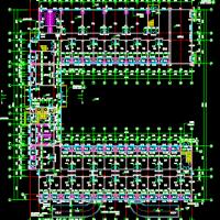 江苏U字形7层框架结构宿舍楼建筑结构及电气设计图