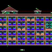六层框架结构宿舍楼建筑及结构图纸