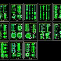 13个柱装饰建筑详图