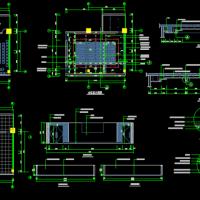 两套会议室室内装修设计CAD图纸