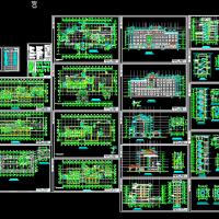 某地六层山水大酒店建筑全套CAD图纸