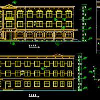 三层简欧风格砖混结构招待所建筑图
