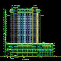 21层框剪结构大酒店建筑施工图纸
