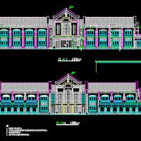 二层欧式宾馆建筑设计图纸(共5张)