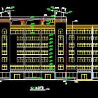 七层宾馆公寓建筑施工CAD图纸