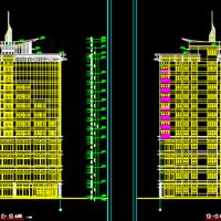 某十二层酒店大厦建筑施工图纸