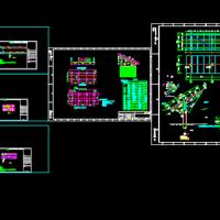渔光互补区光伏支架结构设计及组件布置图
