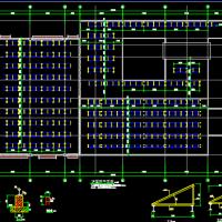江苏某中学屋顶850KWp光伏并网发电结构布置图