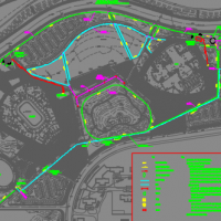 东北某公园景观与低影响开发海绵城市施工图(含PPT)