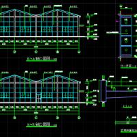 蔬菜种植温室大棚阳光房建筑结构全套图