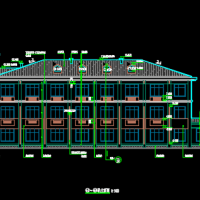 3层框架结构高速公路服务区宿舍楼及一层综合楼设计图