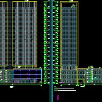 河南一类高层综合楼建结水电暖全套图